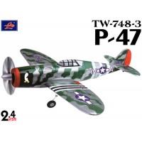 Lanyu (TW-748-3-B) 4CH P-47 EPO ARTF Aeroplane (Green & Silver) - 2.4GHz