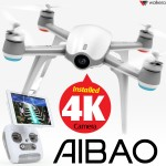 WALKERA Aibao FPV AR Gaming GPS Quadcopter with 4K Camera RTF (White)