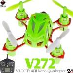 WLTOYS V272 VELOCITY 4CH Nano Quadcopter RTF (Green, Mode 2)