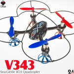 WLTOYS V343 Sea-Glede Quadcopter RTF (Black, Mode 2)