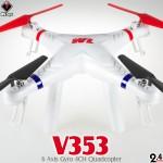WLTOYS V353 Galaxy Quadcopter RTF (White, Mode 2)