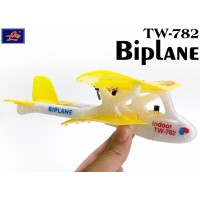Lanyu (TW-782-C) 2CH Biplane EPO RTF Mini Aeroplane (Yellow)