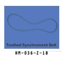 Walkera (HM-036-Z-18) Toothed Synchromesh Belt