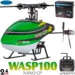 Skyartec (MNH02-2) WASP 100 NANO CP Flybarless 3 Axis Gyro 6CH Helicopter RTF (Cartoned) - 2.4GHz