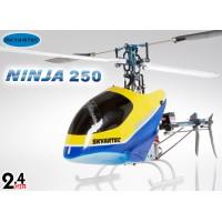 Skyartec (HN250-2) Ninja 250 6CH Metal Upgrade 3D Carbon Fiber Brushless Helicopter w/ Aluminum Carrying Case RTF - 2.4GHz