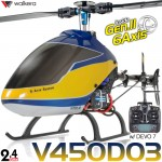 WALKERA V450D03 3D 6 Axis Gyro 6CH Brushless Helicopter with DEVO 7, 8S, 10 or 12S Transmitter RTF - 2.4GHz