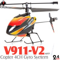 WLTOYS (WL-V911-V2-KIT) Copter V2 4CH Helicopter with Gyropes System KIT (TX not included) ARTF - 2.4GHz