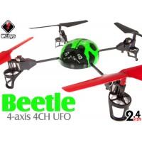 WLTOYS (WL-V929-G-M1) WL Beetle 4CH UFO RTF (Green, Mode1) - 2.4GHz
