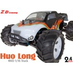 ZD Racing (ZD-16422-B) Huo Long 4WD 1/16 Scale Brushless Electric Truck (Black) RTR - 2.4GHz